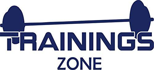 GRAZDesign Wandtattoo Trainings Zone Wand-Aufkleber für Sportbereich Sportler Motivation, Fitness, Fitnessraum (87x40cm//049 königsblau)