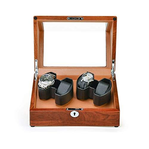 alvyu Automatische Uhrenbeweger Box, leiser Motor 5 Rotationsmodi, Holzuhren Lagerung Display Box, Security Lock