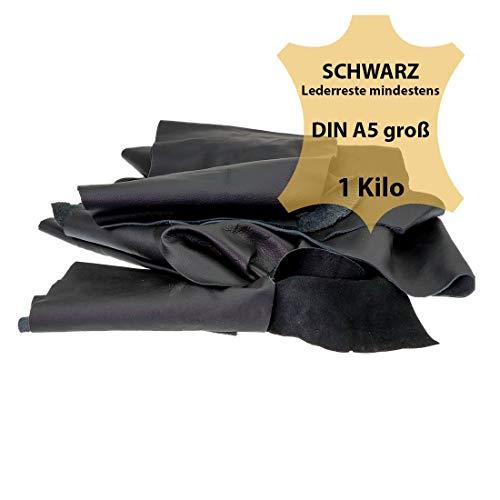 Langlauf Schuhbedarf ® Lederreste Schwarz, 1000 g - Mind. DIN A5 groß
