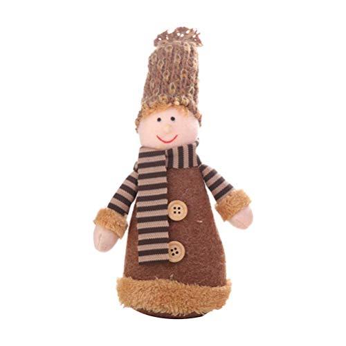 Elf en Peluche de Noël en Peluche Jouets de Noël Doll Décoration Elf Cadeau avec Bonnet for Table Cheminée étagère ornamen - Boy zcaqtajro (Color : Boy)
