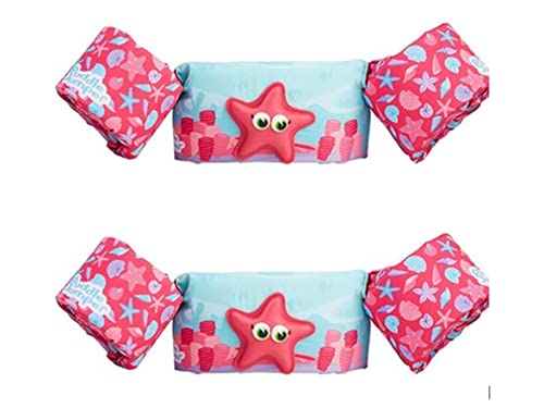 Puddle Jumper Kids Deluxe Life Vest with 3D Character for Children 30-50 Pounds 2 Pack (Pink Starfish)