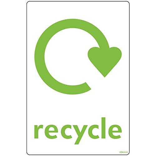 Recycle Sign Bin Zelfklevende Vinyl Sticker WRAP Recycle Nu 148 x 105mm
