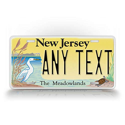 SignsAndTagsOnline Custom New Jersey Meadowlands License Plate Any Text Personalized NJ Garden State Metal Auto Tag