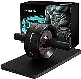Trideer Rodillo de abdominales para ejercicios abdominales con rueda Ab Roller para entrenamiento de Core; rueda Ab Wheel para gimnasio en casa