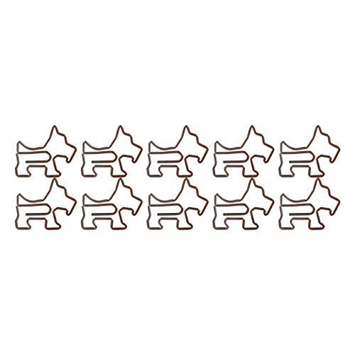 Fablcrew – Lote de 10 clips de metal con forma de perro, pinzas de papel, para suministros escolares de oficina