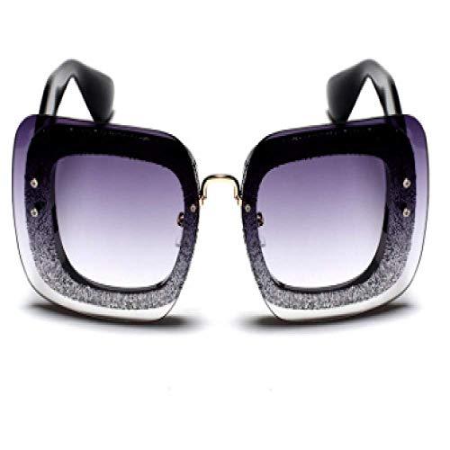 Nueva caja grande europea y americana gafas de sol mujer marco grande...