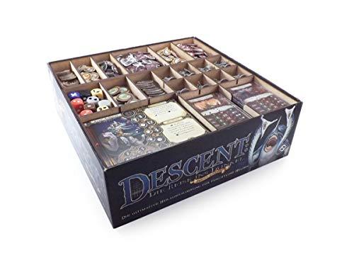 Feldherr Brettspiel Organizer kompatibel mit Descent: Reise ins Dunkel 2. Edition