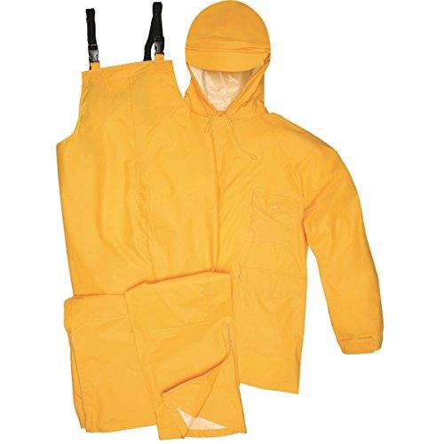 Gempler's Premium Quality Rain Jacket and Bib Overalls Waterproof Rain Suit, Yellow, Size XL Connecticut