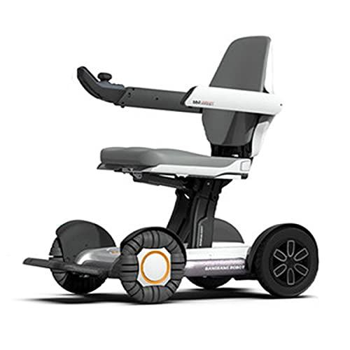 Faltbarer 4 Rad Electric Scooter Elektromobil für behinderte Senioren Ältester,Folding Elektrorollstuhl E-Scooter Klappbar E-Roller Elektroroller Mobilitätsroller elektrisch Dreirad Tragbarer Fahrzeug