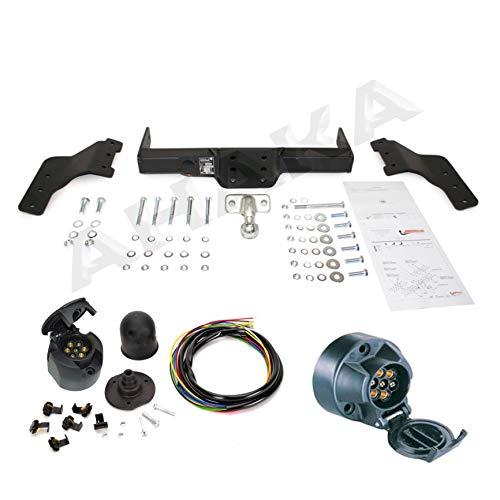 ATTELAGE avec faisceau 7 broches | Ford Transit 2000 de 2000- / crochet «col de cygne» démontable avec outils