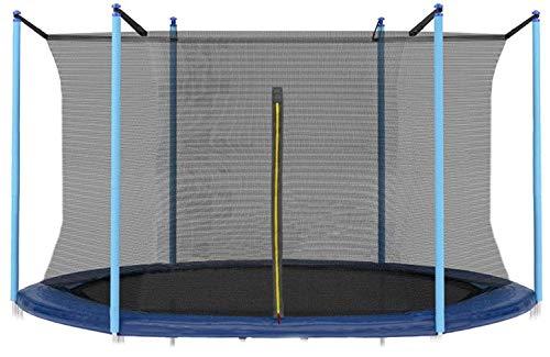 Red de protección Interior para Cama, Altura 160 cm, para Camas elásticas de diámetro 245/250/255 cm, 8FT, Resistente, con Cerradura, Juego para Exteriores, para 6 Postes (8FT - 6 Puestos)