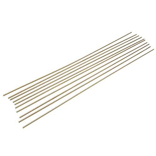 JINKEBIN Abrasivo de Accesorios de Soldadura, 10pcs Multi Propósito sólido de Bronce de Gas Soldadura Fuerte Varillas for remachar Corte 2.4x500mm Accesorios for Herramientas eléctricas