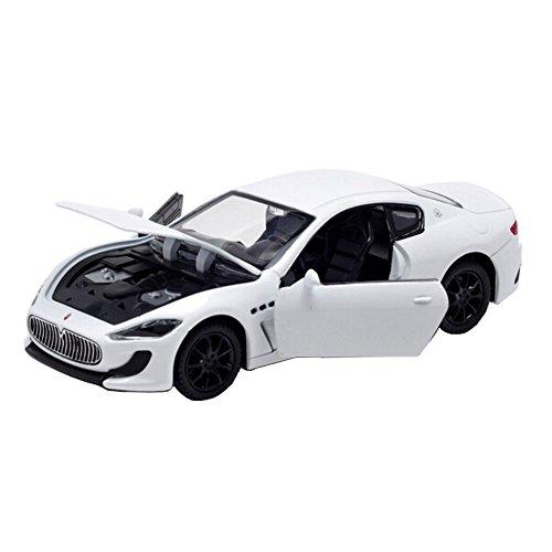 Kids Best Gift 1/32 alliage voiture de modèle modèle de voiture de jouet, blanc