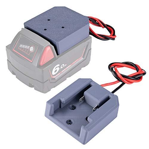 Battery Adapter for Milwaukee M18 Battery 18V Dock Power Mount Connector 14 Gauge Robotics(DIY)