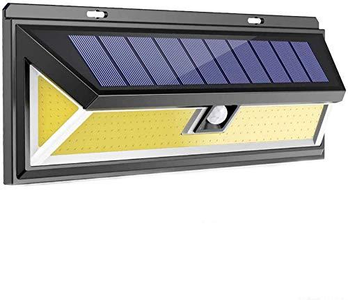 GANE Solarleuchten im Freien, 900 lm 180 LED Solar Bewegungssensor Sicherheitsleuchten mit 3 intelligenten Modi Solarbetriebene Leuchten Drahtlose wasserdichte Wandleuchten im Freien