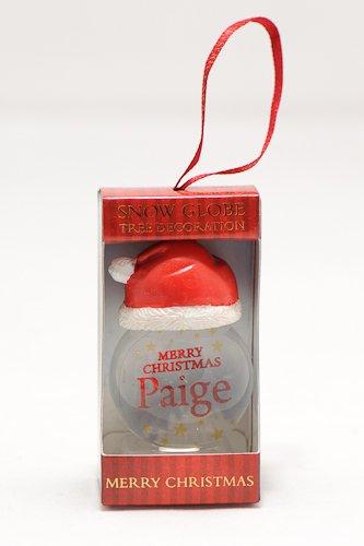 Personalisierbare Schneekugel für Weihnachtsbaum, 2 Stück