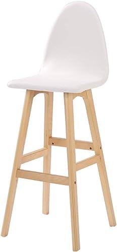 C-K-P Chaise de Bar en Bois Massif Chaise Haute créative Chaise de Bar Tabouret européen