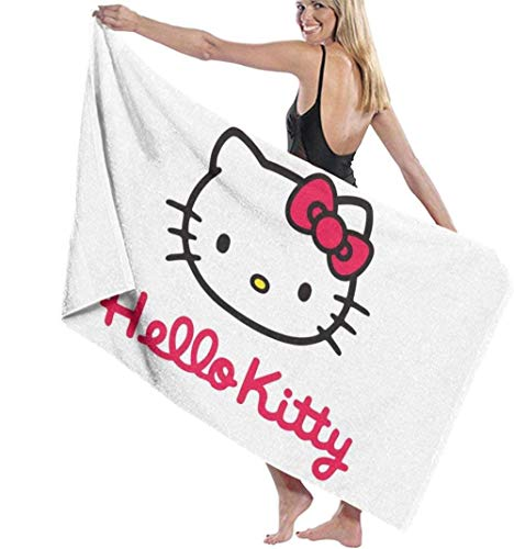 BAOYUAN0Microfiber beach towel kitty beach towels bath towel for women kids girls boys adult men 80*130cm