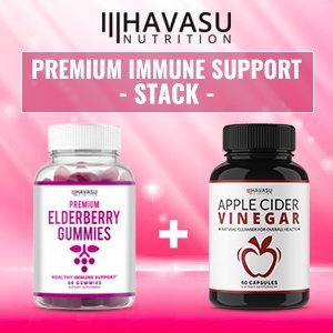 Havasu Nutrition Zinc & Elderberry Gummies 100mg - Supports Immune System Health - Made with Plant-Based Pectin - NO Gelatin, NO Fructose Corn Syrup, Gluten Free - Natural Ingredients, 60 Gummies