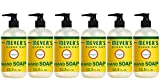 Mrs. Meyer's Clean Day Liquid Hand Soap, Cruelty Free and Biodegradable Hand Wash Made with Essential Oils, Honeysuckle Scent, 12.5 oz - Pack of 6