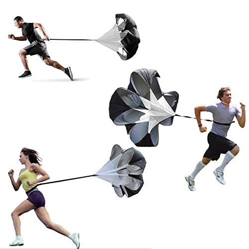 Instelbare hardloopweerstand Parachute voor krachtsnelheid Loopsnelheid Drag Chute Fysieke trainingsapparatuur voor hardlopen, voetbal en voetbalboren