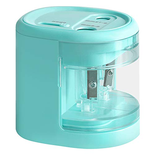 Electric Pencil Sharpener -Colored Pencil Sharpener Dual-Hole USB or Battery for Colored Pencil, Sketch Pencil, Highlight Pencil