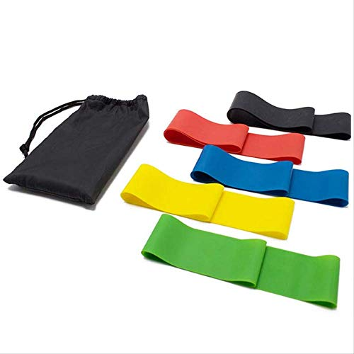 tydv 5 Pieces/Set of 5 Color Resistance Band Indoor Fitness Equipment Latex Fitness Band Sports Exercise Elastic Gymnastics Band Training Rubber