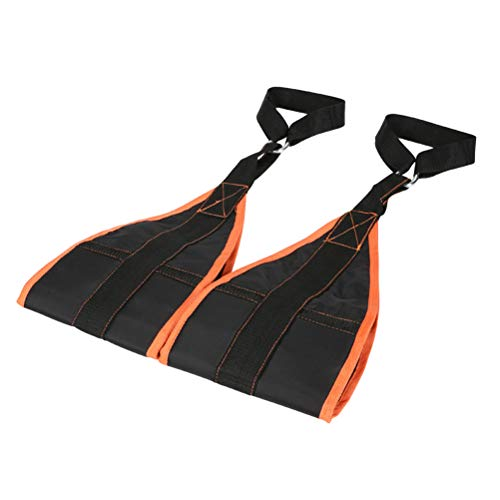 Abaodam 1 Paar gepolsterte Aufhängegurte Klimmzuggürtel Bauchmuskeltraining Klimmzugstange montiert Muskulatur Carver