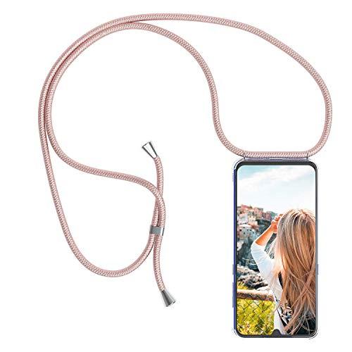 YuhooTech Handykette Hülle für LG Velvet 5G Handyhülle, Smartphone Necklace Hülle mit Band - Handyhülle mit Kordel Umhängenband - Schnur mit Hülle zum umhängen