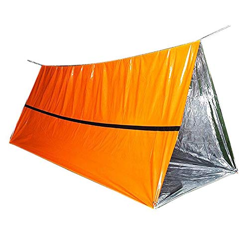 Emergency Tube Tent Reusable Lightweight Compact Rescue Large PE Foil Survival Tent Shelter for Camping, Hiking, Outdoor, NASA, Survival or First Aid