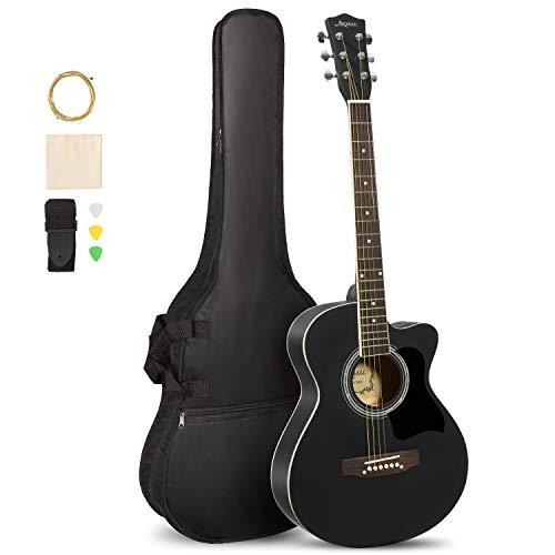 ARTALL 39 Inch Handcrafed Acoustic Cutaway Guitar Beginner Kit with Gig bag  Missouri