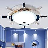 LITFAD Modern Ceiling Light 24.5' Rubber Design Nautical Style Flushmount Pendant Light in White Finish for Kid's Bedroom,Children's Room,Kids Bedroom,UL Listed