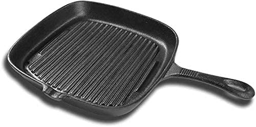 YQG Nonstick Frying Pan, Steak Griddle Pan Cast Iron Nonstick Stove Multi Purpose Skillet Fry Pan No PTFE, PFOA Valid for gas and induction cookers,24cm