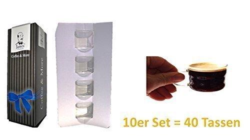espressotassen in geschenkbox Weihnachten 2015 10er Set Sie erhalten 40 Tassen mit Henkel 100ml verpackt