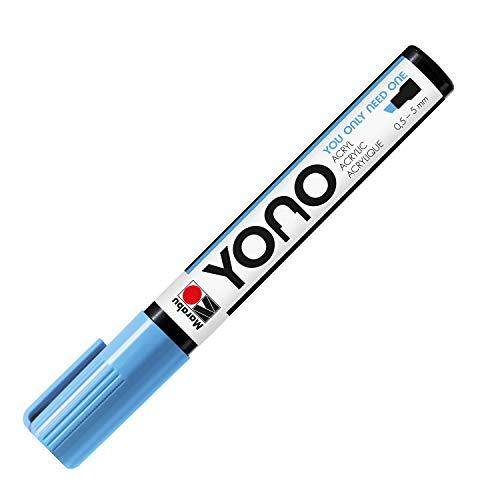 Marabu Yono 12400102256 12400102256 - Rotulador acrílico con punta japonesa, resistente a la luz y al agua, para casi todas las superficies, 0,5-5 mm