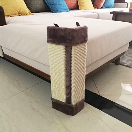QBYLYF Cat Furniture Protector, Cat Scratch Plate Grinding Machine Sisal Wearable Sofa Corner Protection Vertical Folding Corner Corner Hanging Cage Wall Cat (Color : Brown)