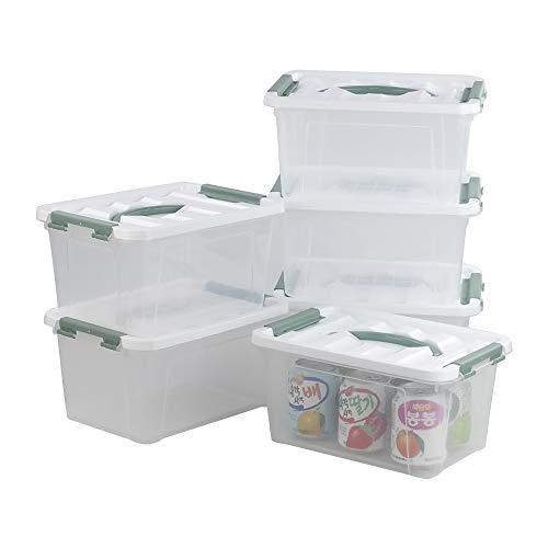 Bblie Boîtes Transparentes en Plastique, 6 Pack Caisses de Rangement