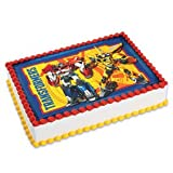 Transformers emblem Cake Edible 1/4 Sheet Image Topper Birthday Party Favor Movie