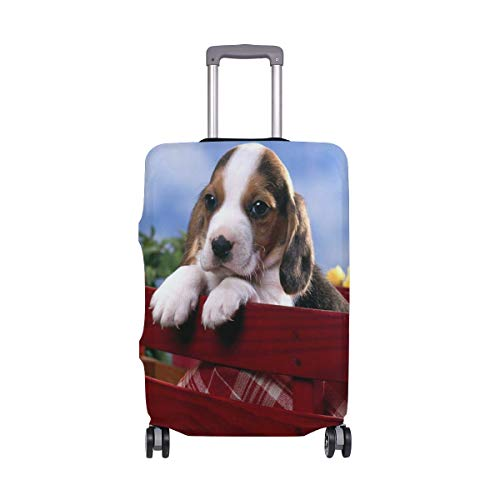 AJINGA Sweet Little Puppy Picnic Travel Bagage Protector koffer Hoes XL 29-32 in