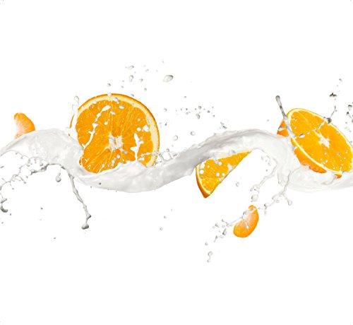 Schön und Wieder Spritzschutz aus Acryl Glas 60 x 55cm - Fliesenspiegel - Küchenrückwand (Orange)