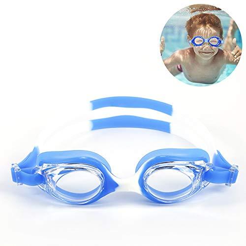 DASGF Zwembril voor kinderen, geen ondichte lens, UV-bescherming, brucke met hoge taaiheid, anti-condens-zwembril voor kinderen van 3 tot 14 jaar, anti-condensbril voor kinderen
