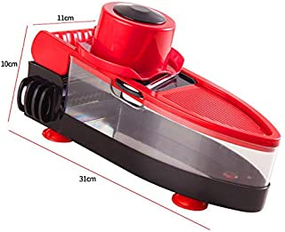 HTYX Multi-Function Chopper Manual Wire Cutter Potato Cucumber Carrot Slicer Multi-Size paring Knife Household Kitchen Tools Black red 300×110×100mm