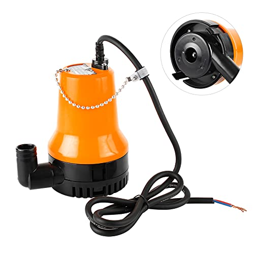 everfarel Tauchpumpe Wasserpumpe DC 24V 60W 4500L/H für Teich Boot mit 1.3m Kabel