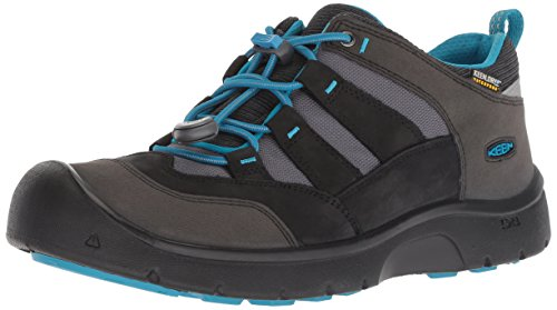 KEEN Unisex-Kinder Hikeport, Imperméable Trekking- & Wanderhalbschuhe, Schwarz (Black/Blue Jewel 001), 32/33 EU