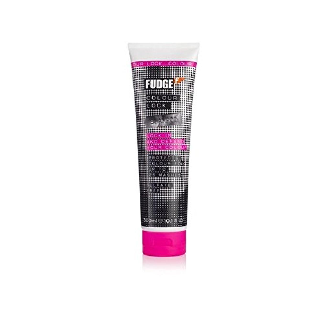 最初はミニ消すファッジ色ロックシャンプー(300ミリリットル) x4 - Fudge Colour Lock Shampoo (300ml) (Pack of 4) [並行輸入品]