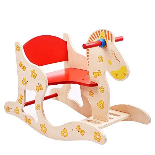 YUMEIGE Rocking Paarden Rocking & Spring Ride-ons 23,6 × 11,2 × 17,7 Inch, Kid Riding Speelgoed/Paard 1-6 Jaar Oude Kinderschommelstoel, Peuter Rockers & Ride-ons Lading 35kg