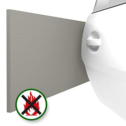 Preisvergleich Produktbild ATHLON TOOLS 2x FlexProtect Garagen-Wandschutz,  Schwer Entflammbar,  je 2 m lang,  Extra Dicker Auto-Türkantenschutz,  Selbstklebend,  Wasserabweisend (Grau)