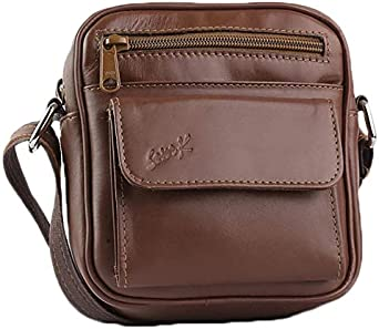 Sevenk Baguette Bags Leather Brown For Men