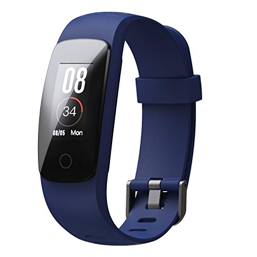 boAt ProGear B20 Smartband with Activities Tracker, Sports Modes, Heart Rate Monitor, Smart Notifications, Vibration Alert, Touch Colour Display, Gesture Control, USB Direct Charge, IP68(Furious Blue)