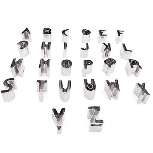 26 Molde de galleta del alfabeto inglés Corte de impresión de ...
